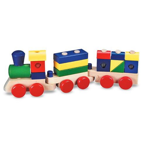 Trenulet din Lemn de Stivuit