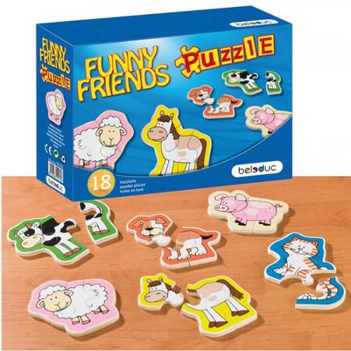 Beleduc Puzzle Lemn Animale Prietenoase