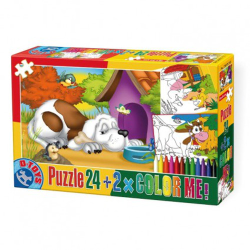 D-Toys Puzzle 24 Color Me Animale