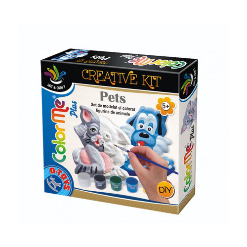 Joc Creativ Color Me Plus Pets Pisica si Catel