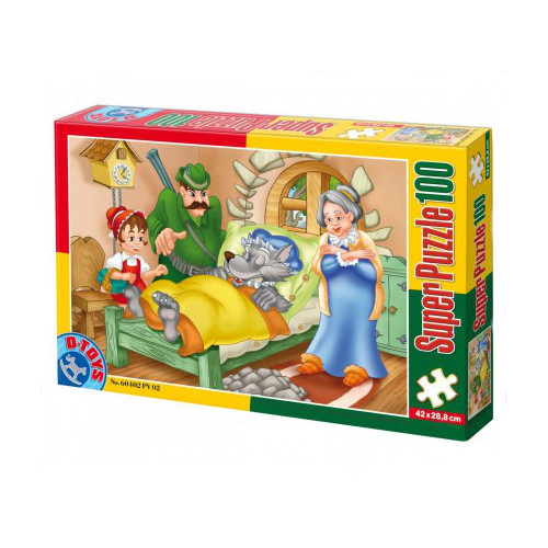 Super Puzzle 100 Piese Scufita Rosie