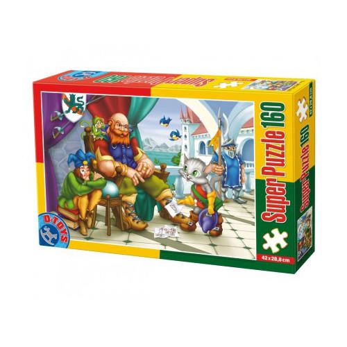 D-Toys Super Puzzle 160 Piese Motanul Incaltat