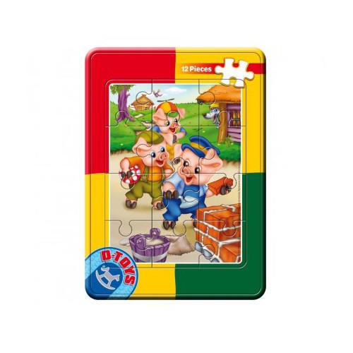 Puzzle Mini Plan 12 Piese Cei 3 Purcelusi