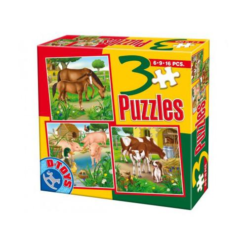 Puzzle 3 Progresiv Animale Domestice 2