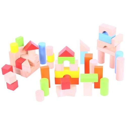 Bigjigs Cuburi Colorate Pentru Construit