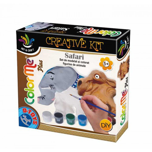 D-Toys Joc Creativ Color Me Plus Safari Elefant si Camila