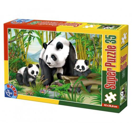 Super Puzzle 35 Piese Ursi Panda