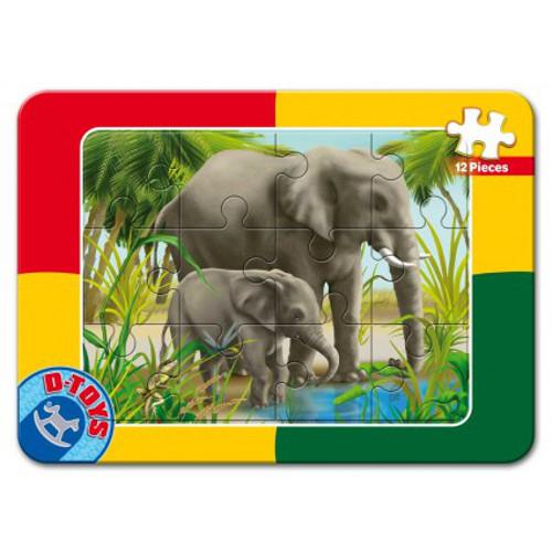 Puzzle Mini Plan 12 Piese Elefantei