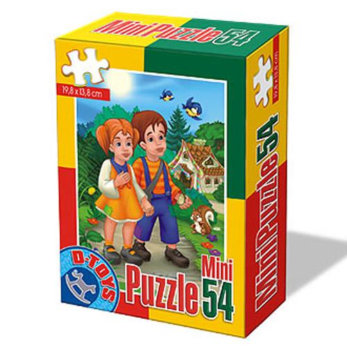 Mini Puzzle 54 Piese Basme Hansel si Gretal