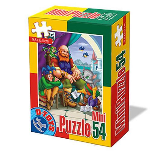Mini Puzzle 54 Piese Basme Motanul Incaltat