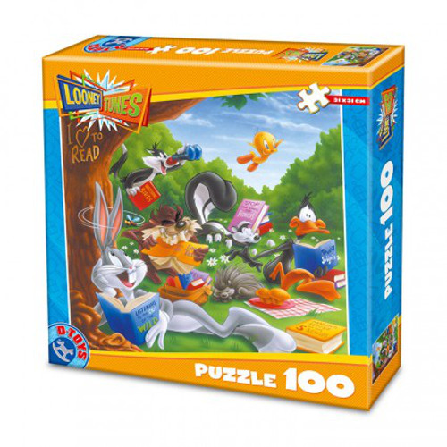 Puzzle 100 Piese Looney Tunes I Love to Read