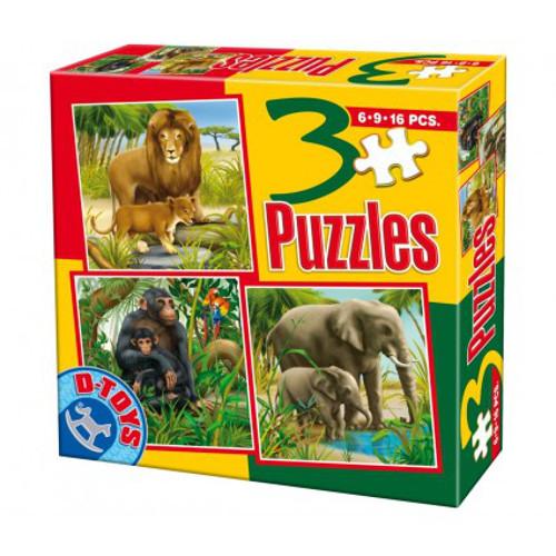 Puzzle 3 Progresiv Animale Salbatice 2