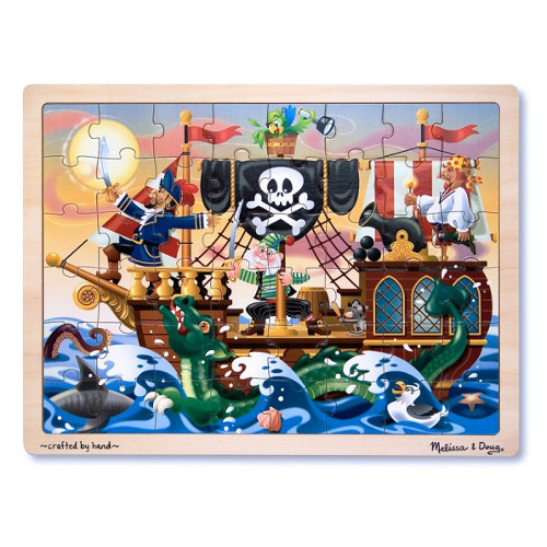 Melissa and Doug Puzzle de Lemn Aventura Piratilor
