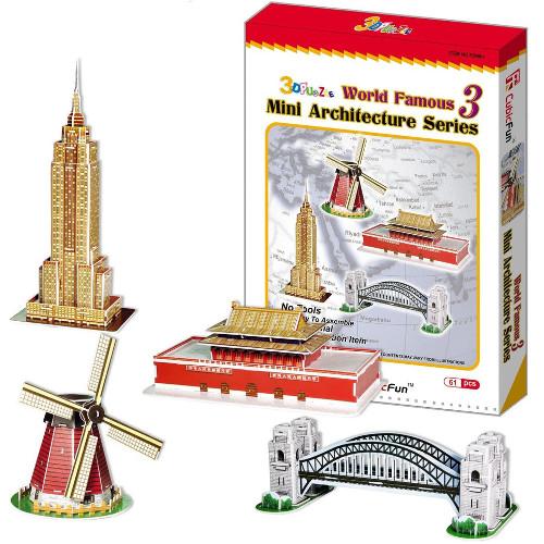 Puzzle 3D Mini Set Arhitectura 3