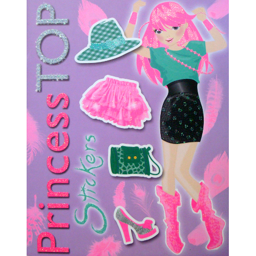Princess Top Stickers Violet thumbnail