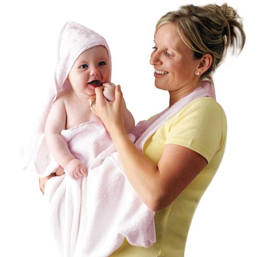 Prosop de Baie pentru Bebelus si Mama Roz