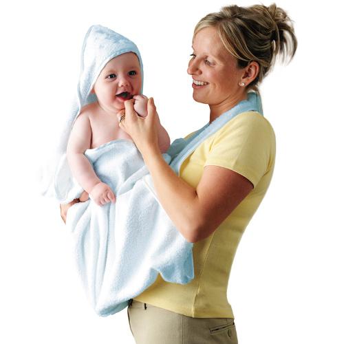 Prosop de Baie pentru Bebelus si Mama Bleu