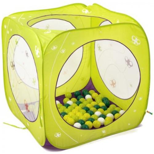 Ludi Spatiu de Joaca Pliabil Cub 80 Bile Fluturi
