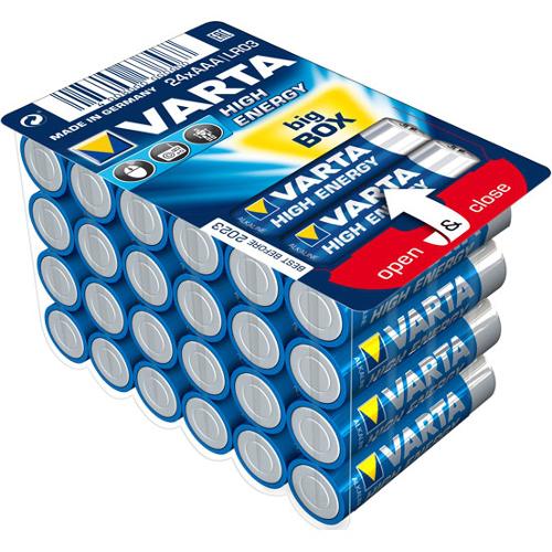 Set 24 Baterii Tip AAA High Energy