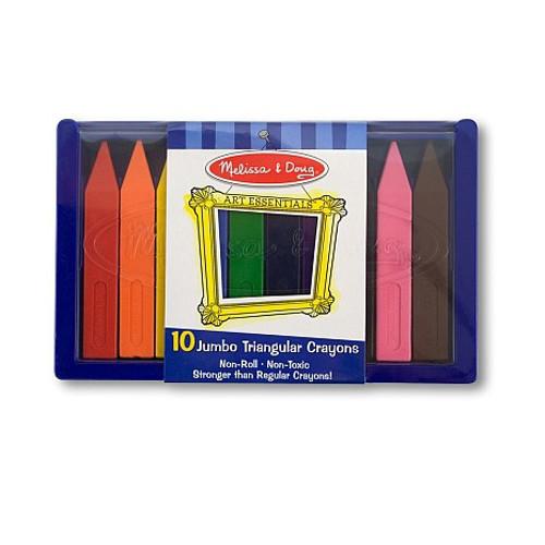 Set 10 Creioane Trunghiulare