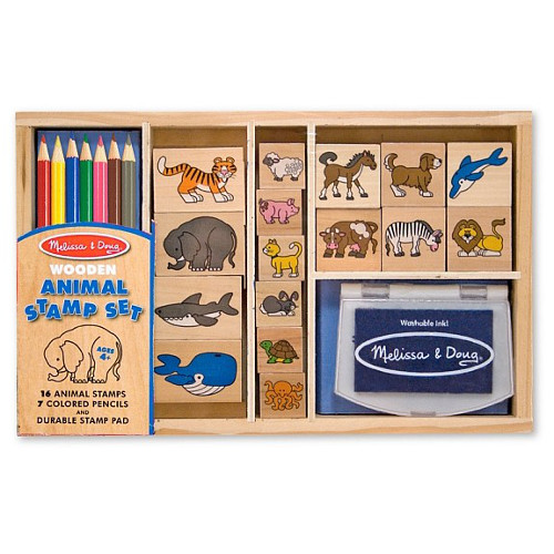 Melissa and Doug Set Stampile cu Animale