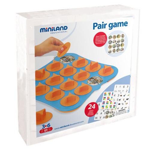 Miniland Joc de Memorie 24 activitati cu 4 Table de Joc