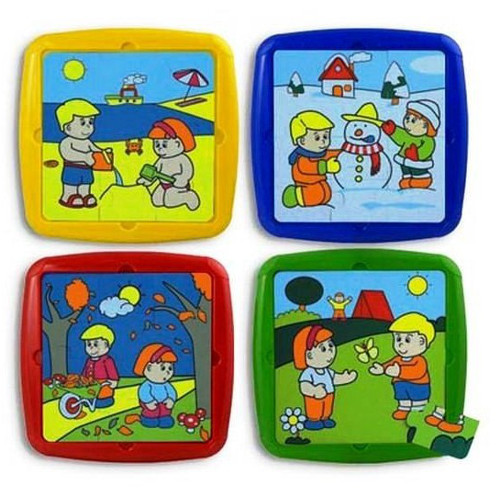 Miniland Set 4 Puzzle Activitati de Sezon