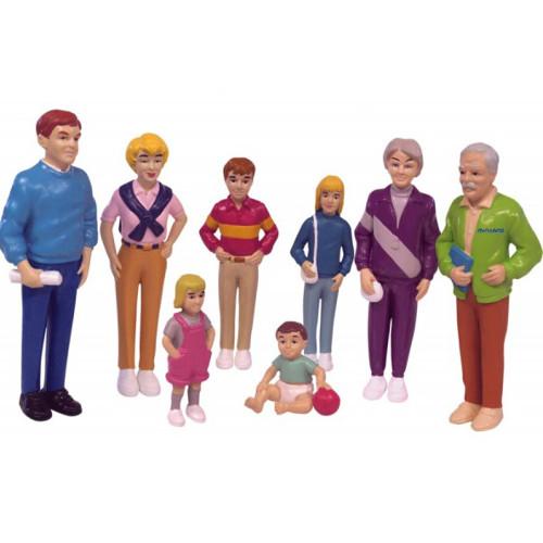 Miniland Set de 8 Figurine Familie de Europeni