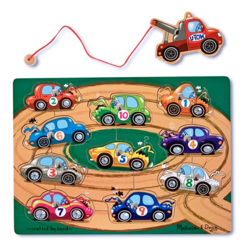 Melissa and Doug Puzzle Magnetic din Lemn Remorcherul