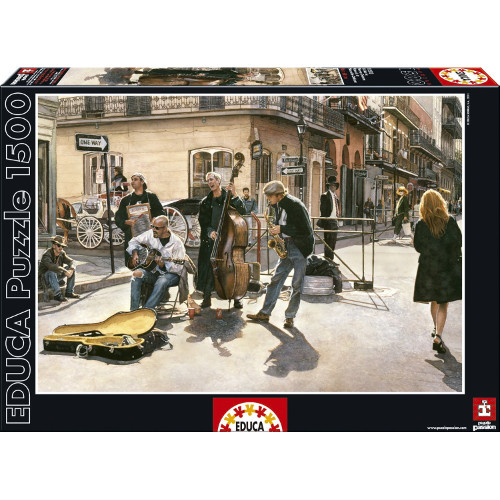 Puzzle Strazile din New Orleans 1500 Piese