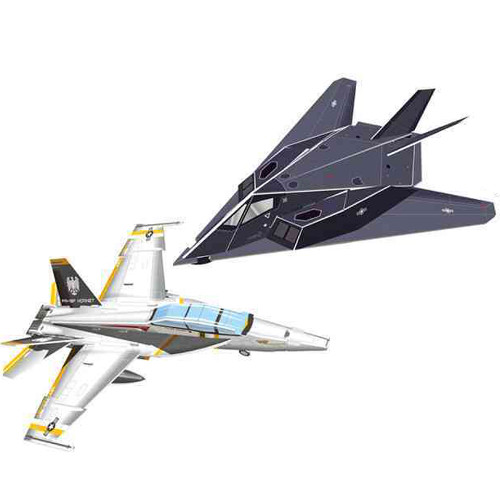 Puzzle 3D Avioane de Lupta Super Military