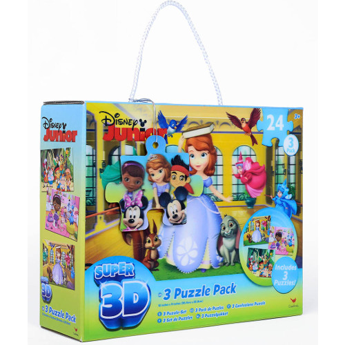 Puzzle 3D - Set 3 Jocuri Disney Junior