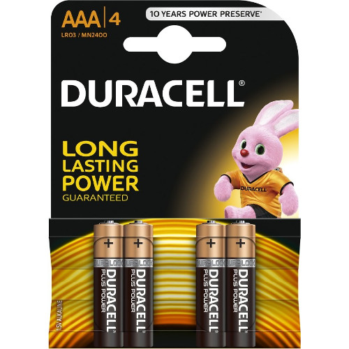 Duracell Set 4 Baterii Tip AAA Long Lasting Power