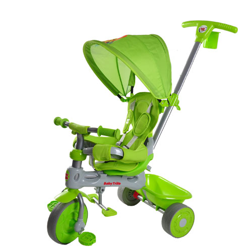 Tricicleta Baby Trike 4 in 1 Lion Green