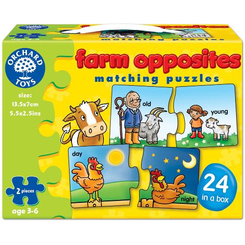 Orchard Toys Joc Educativ in Limba Engleza Farm Opposites