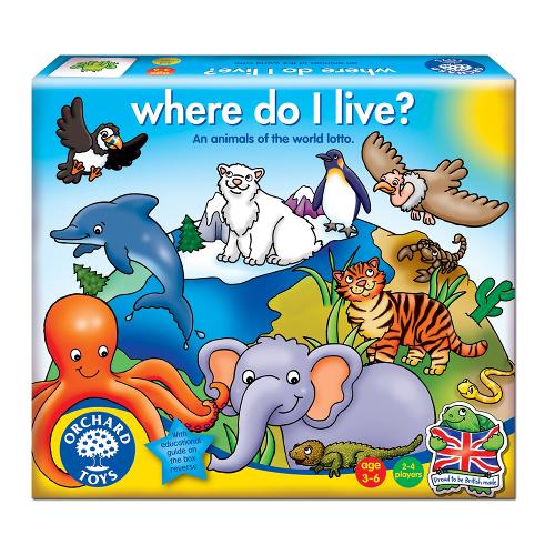 Orchard Toys Joc Educativ Loto Unde Locuiesc