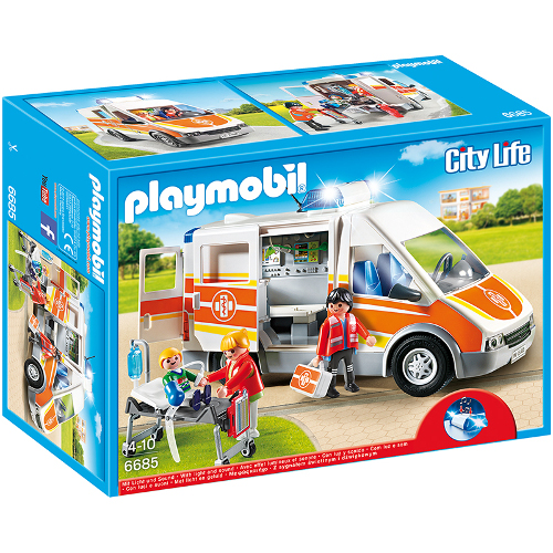 Set Playmobil City Life Kids Clinic - Ambulanta cu Lumini si Sunete thumbnail