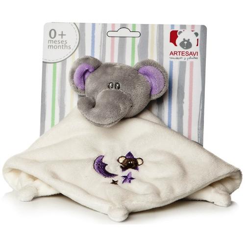 Plus Bebe Elefantel 26 cm cu Paturica si Zornaitoare