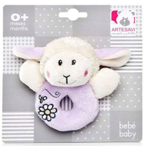 Plus Bebe Oita 12 cm cu Inel de Dentitie si Zornaitoare