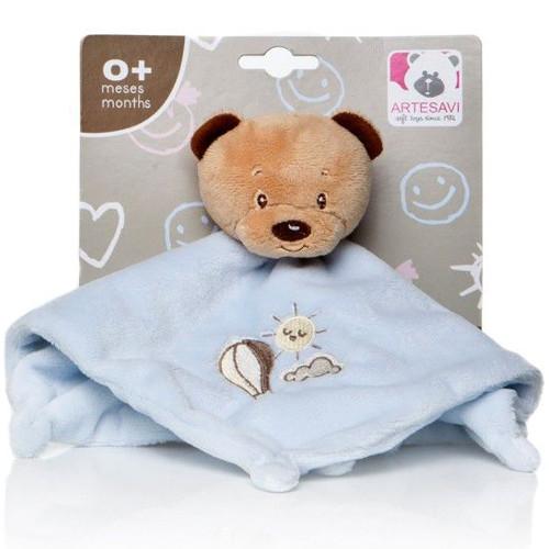 Plus Bebe Ursulet 26 cm cu Paturica si Zornaitoare