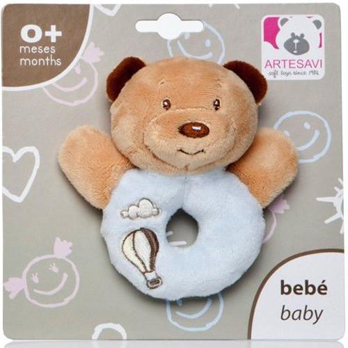 Plus Bebe Ursulet 12 cm cu Inel de Dentitie si Zornaitoare