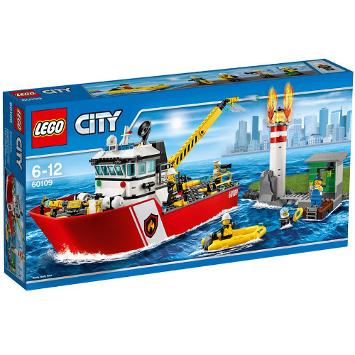LEGO City Salupa de Stins Incendii 60109
