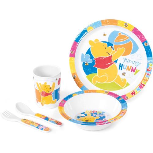 Set pentru Masa Melamina 5 Piese Winnie the Pooh