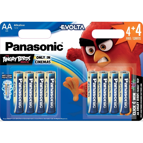 Set 8 Baterii Tip AA Angry Birds thumbnail