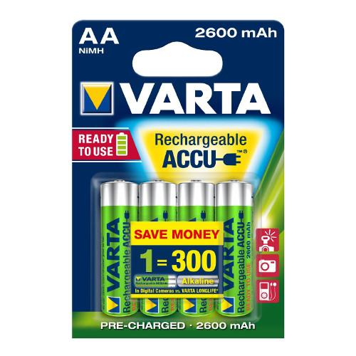 Set 4 Acumulatori AA 2600 mAh Ready to Use thumbnail