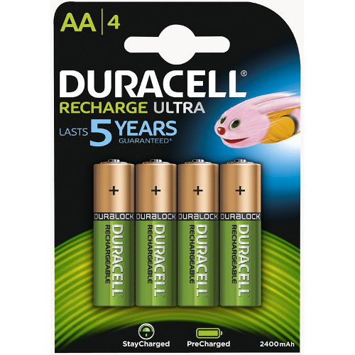 Set 4 Acumulatori AA 2500 mAh Recharge Ultra