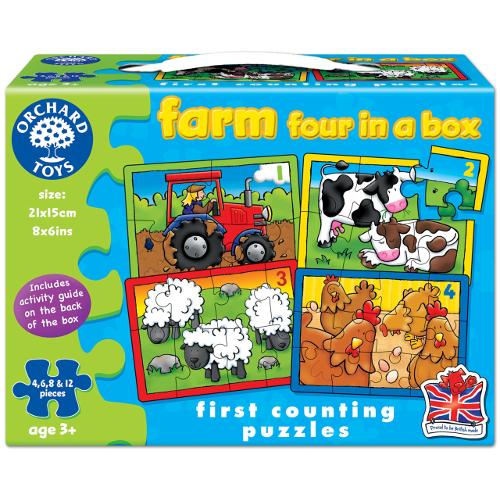 Orchard Toys Set 4 Puzzle La Ferma