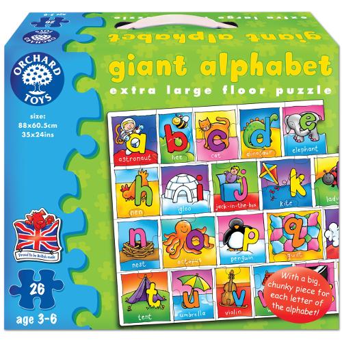 Orchard Toys Puzzle Gigant de Podea Alfabetul 26 Piese