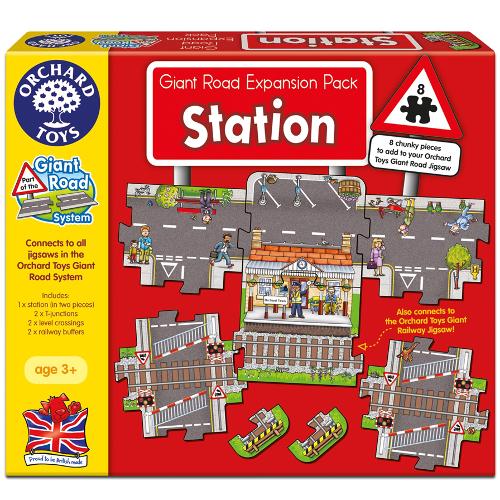 Orchard Toys Puzzle Gigant de Podea Statie de Tren 8 Piese