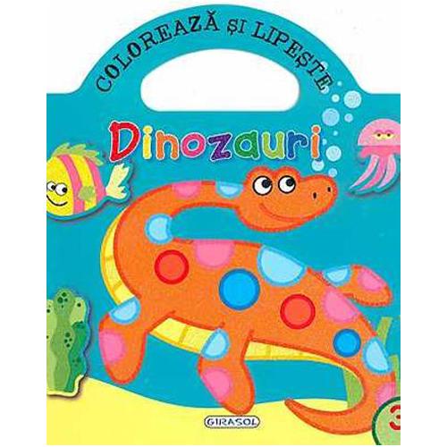 Coloreaza si Lipeste - Dinozauri 3